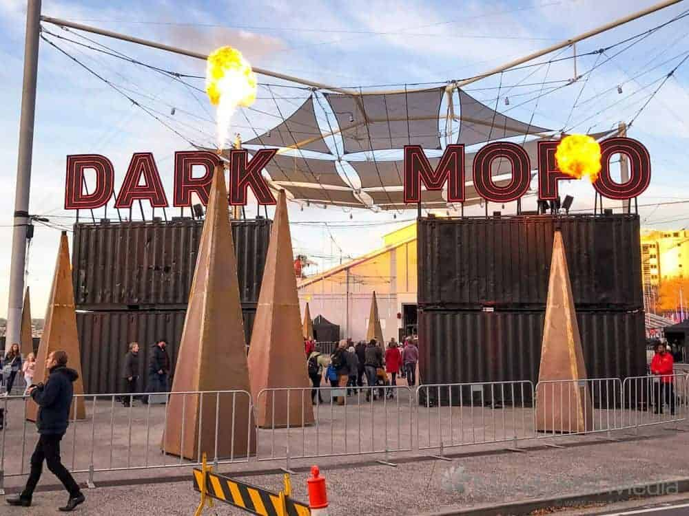 The entrance to Dark Mofo, June 2017