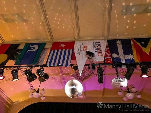 Mirrorball and flags at the Bella Union