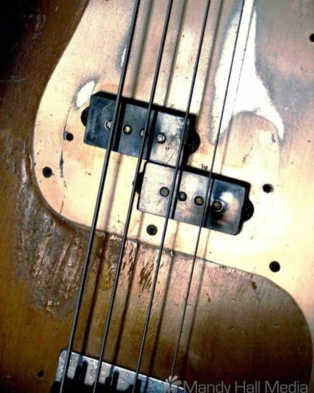 Well loved Fender P Bass from the 60s