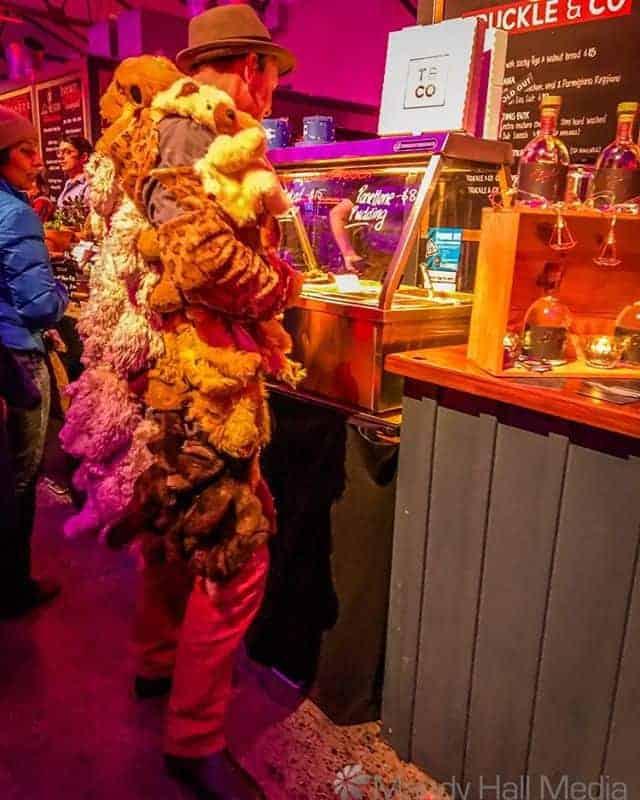 Teddy Bear skin jacket at Dark Mofo