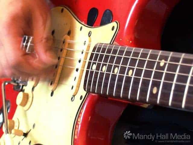 The Bombora guitar, 1961 Stratocaster