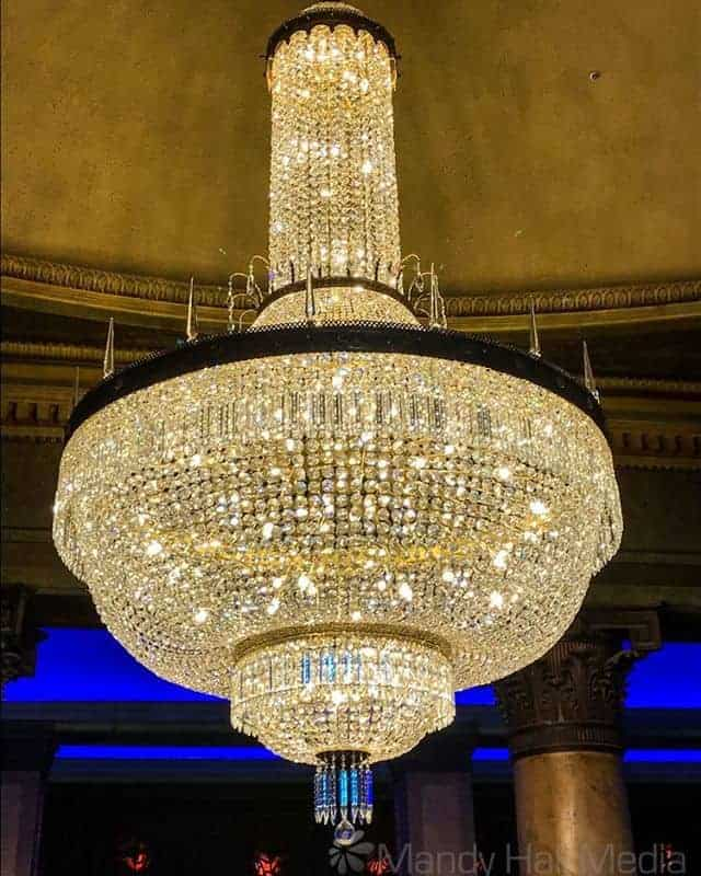 Chandelier at the Palais, St Kilda.