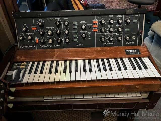 Old Moog at Oceanic Studio