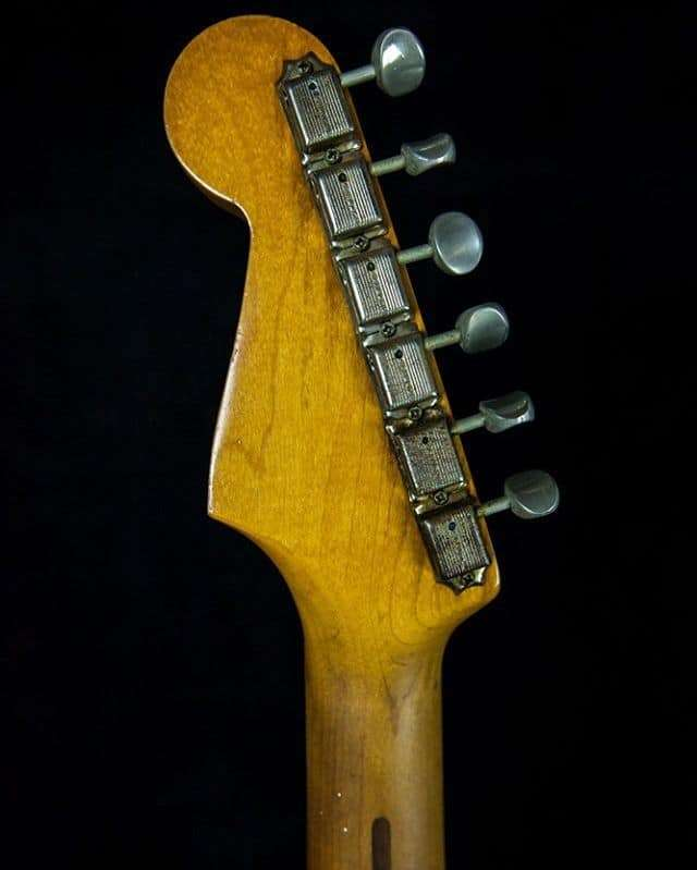 Headstock of a 1958 Fender Stratocaster