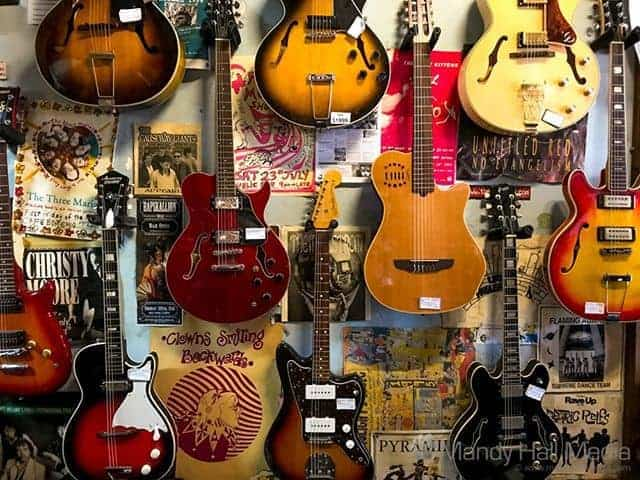 Guitar wall at the Swap Shop
