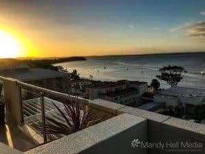 Sunset over Shoal Bay, NSW