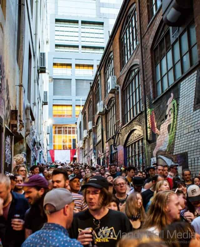 Civic Sounds festival in ACDC Lane, 2018