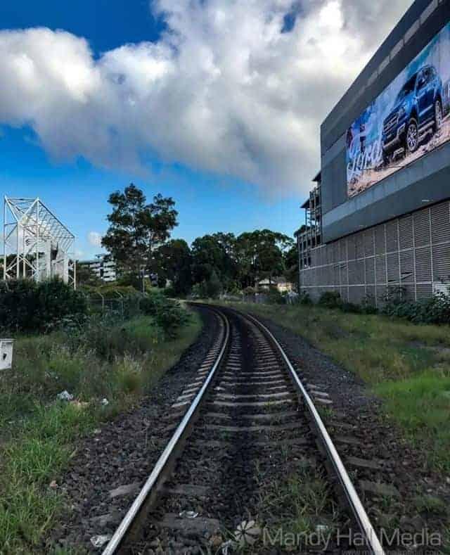 Train tracks in Botany