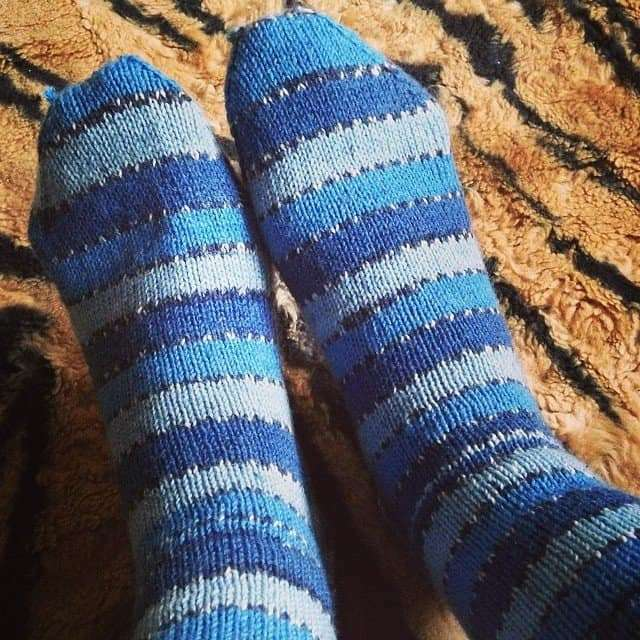 Home made birthday socks. Aren't they great?