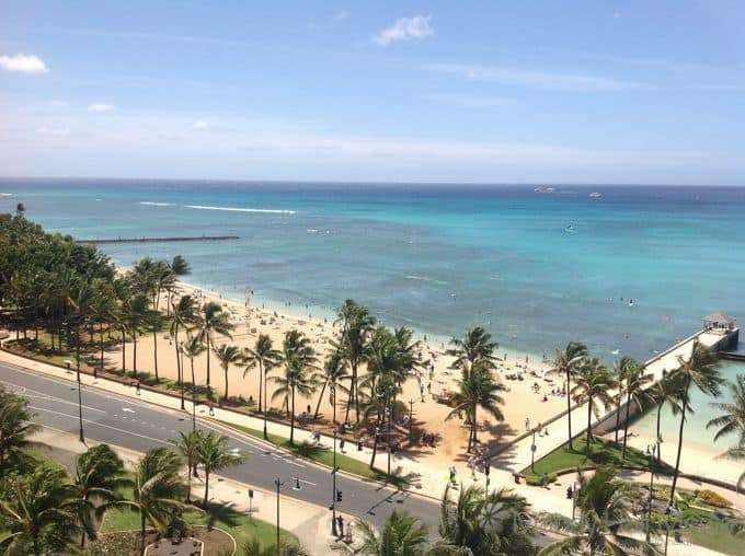Throwback Thursday: Looking out over the beach in Waikiki