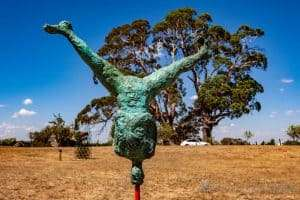 Phillip Doggett-Williams ' The Balance ' at Art in the Vines at Hanging Rock Winery