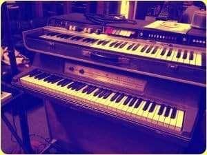 More pianos in the studio. Wurlitzer