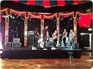 Los Coronas soundchecking at the Spiegeltent, Hyde Park in Sydney