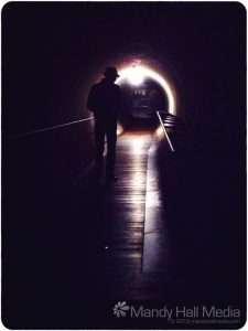 The sound tunnel in Mona (the museum of old and new art) in Hobart, Tasmania. It's really worth a visit