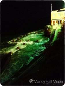 Coogee Beach pool at night