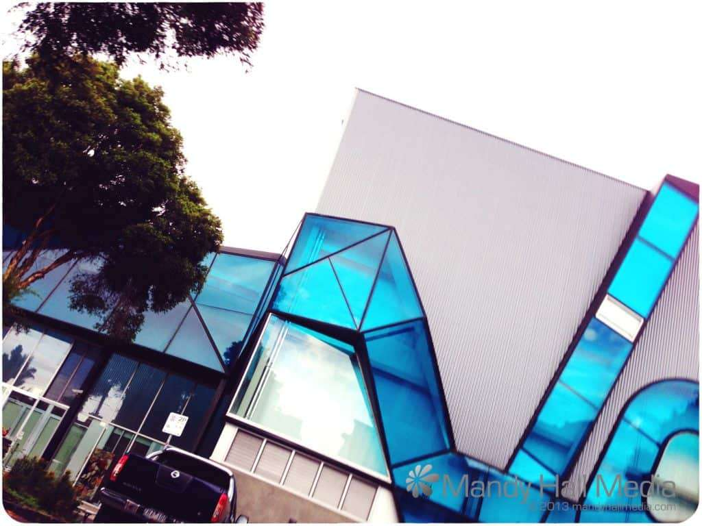 Accidental photo taken while I was walking along. I like those. This is the Swinburne circus arts building in Prahran