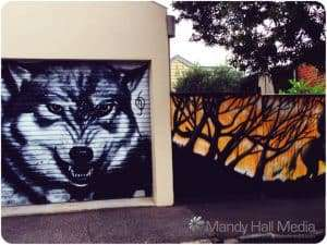 Wolf and fence, excellent.