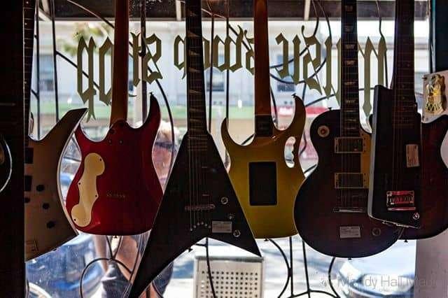 Guitars in the window⠀