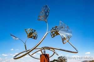 Rudi Jass ' Ginkgo Tree ' at Art in the Vines at Hanging Rock Winery⠀
