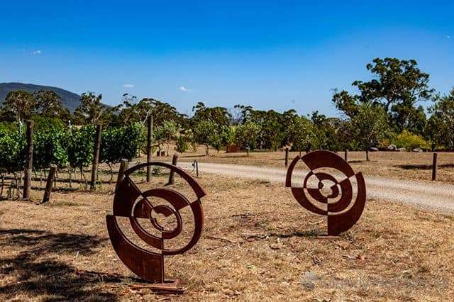 Chris Flenley ' We are each other ' I & II at Art in the Vines at Hanging Rock Winery⠀