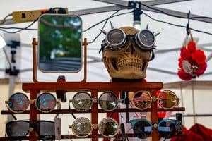 Happy skull at Download Festival, Paramatta Park. March 2019