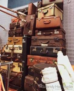 Fabulous old suitcases⠀