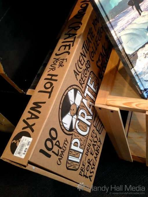 For just $50 you can buy some bits of wood to make a crate to store your records. Just like you used to be able to get off the side of the road for free. Next they'll be selling milk crates.