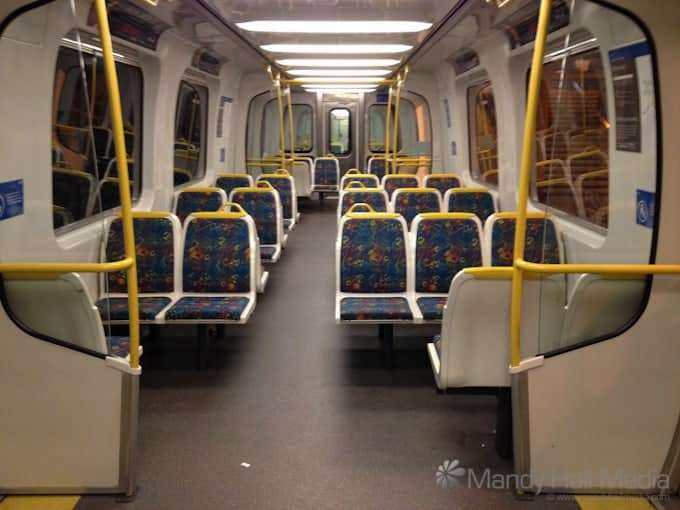 My very own train. Where should I sit?