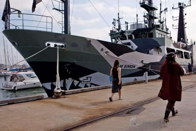 The Sam Simon. Another of the Sea Shepherd's ships.