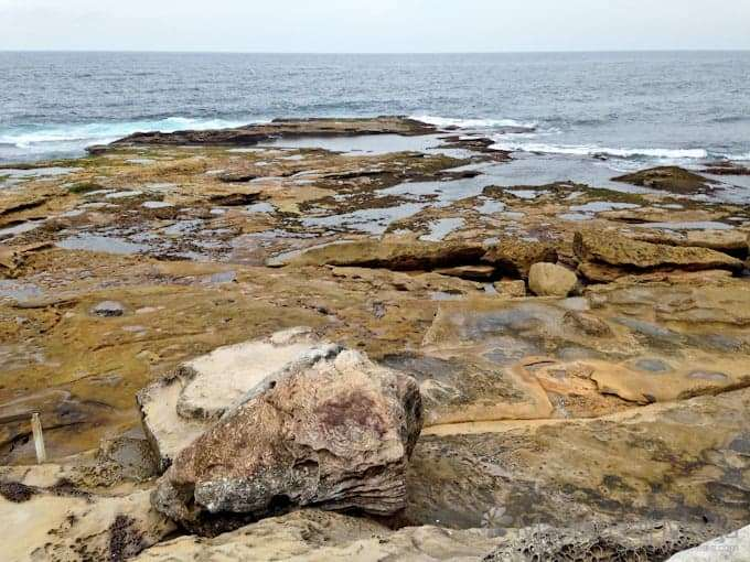 Grey day at the beach in Maroubra