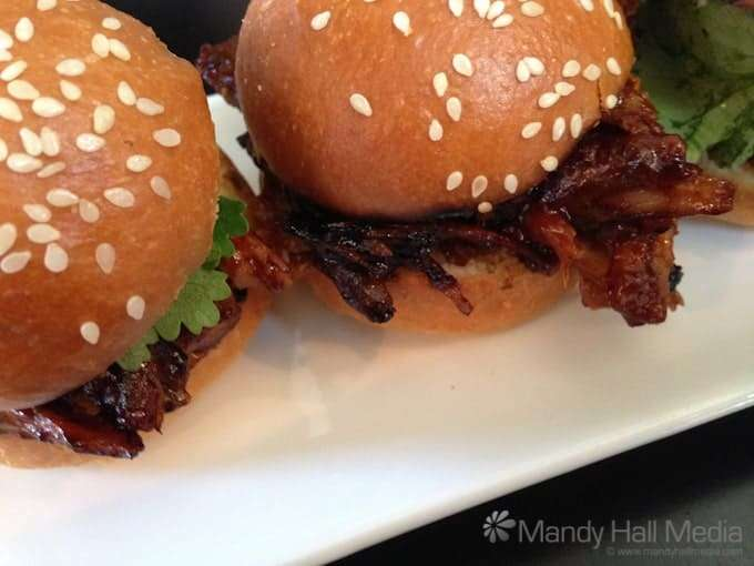 Pulled pork sliders for lunch. Very nice.