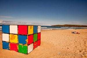 The Rubik's Cube on Maroubra Beach