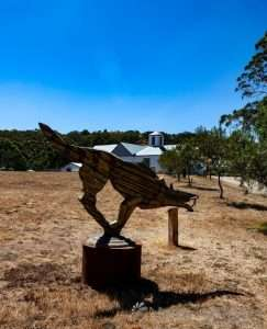 """Anton Hasell """"Red Running Tiger"""" at Art in the Vines at Hanging Rock Winery"""