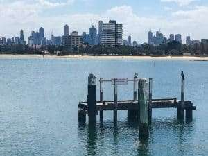 Looking at Melbourne from St Kilda