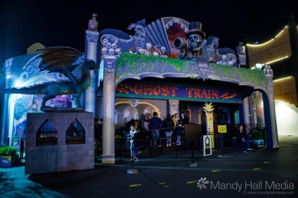 The Ghost Train in Luna Park, St Kilda