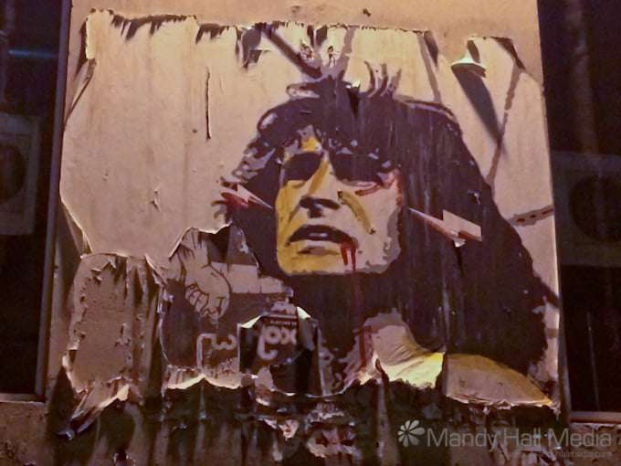 Bon Scott and Angus Young in ACDC Lane
