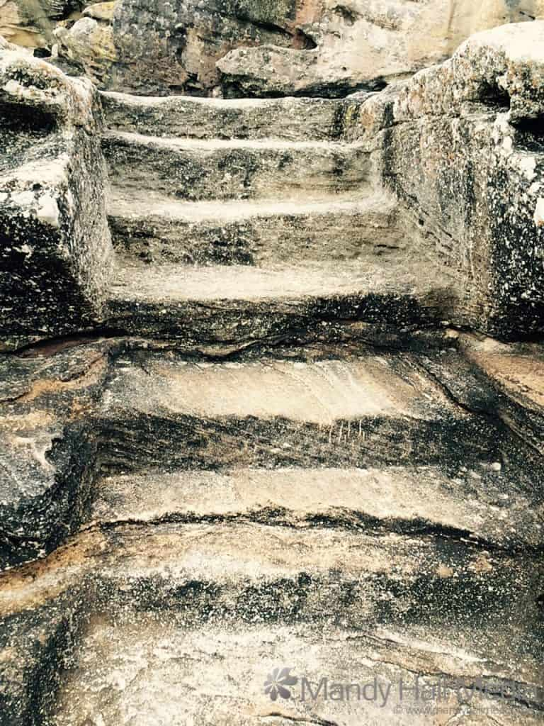 Stairs carved into the rock and more interesting formations at Maroubra Beach