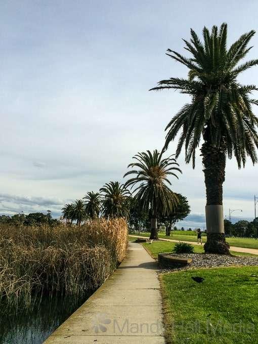 Beautiful winter's day at Albert Park Lake, Melbourne