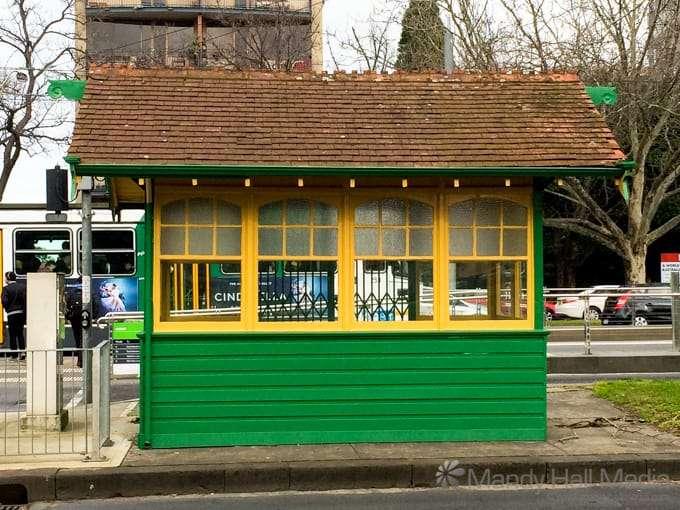 Renovated tram stop