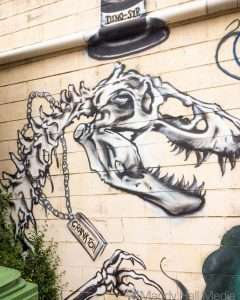 Dino-Sir on the wall in Canberra