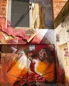 Dancer in a laneway in Adelaide