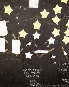 Tribute wall to David Bowie