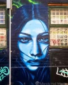 Beautiful street art in a back lane