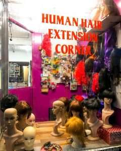 Milk bar and wig shop