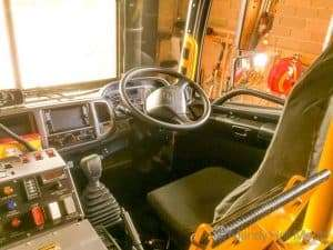Inside the new fire truck