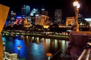 Looking out over the Yarra River