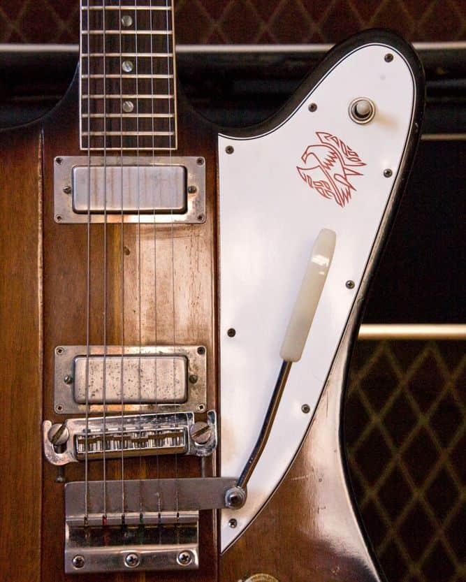 1964 Gibson Firebird with a Vox amp