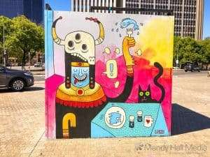 Luku street art in Adelaide