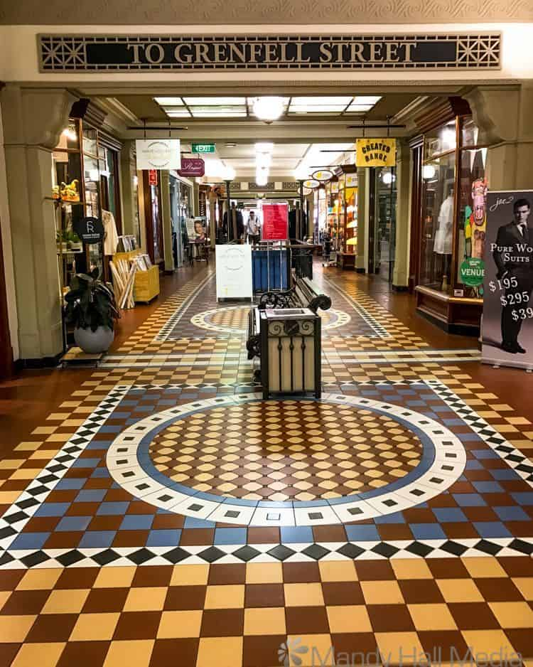 Old arcade in Adelaide