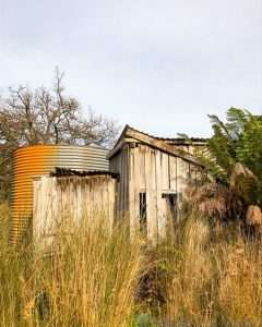 Old shed and water tank